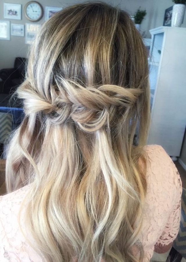 Fishtail half up hairstyle - 2018 wedding hair trends
