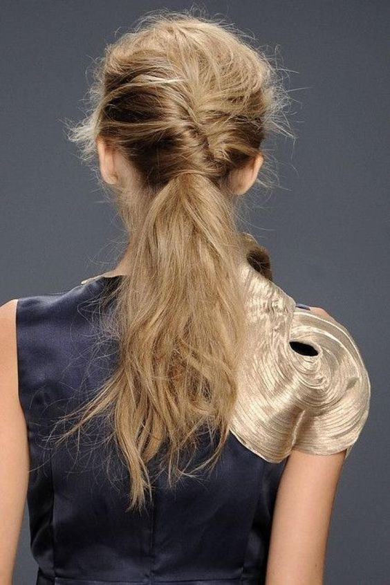French twist pony tail - wedding hairstyles