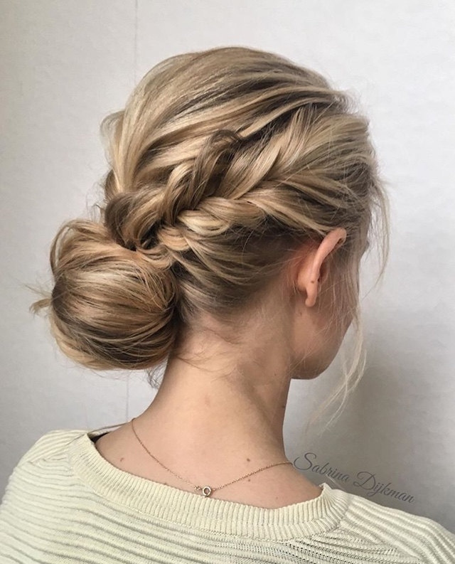 Low Set Updo 2018 Wedding Hair Trends