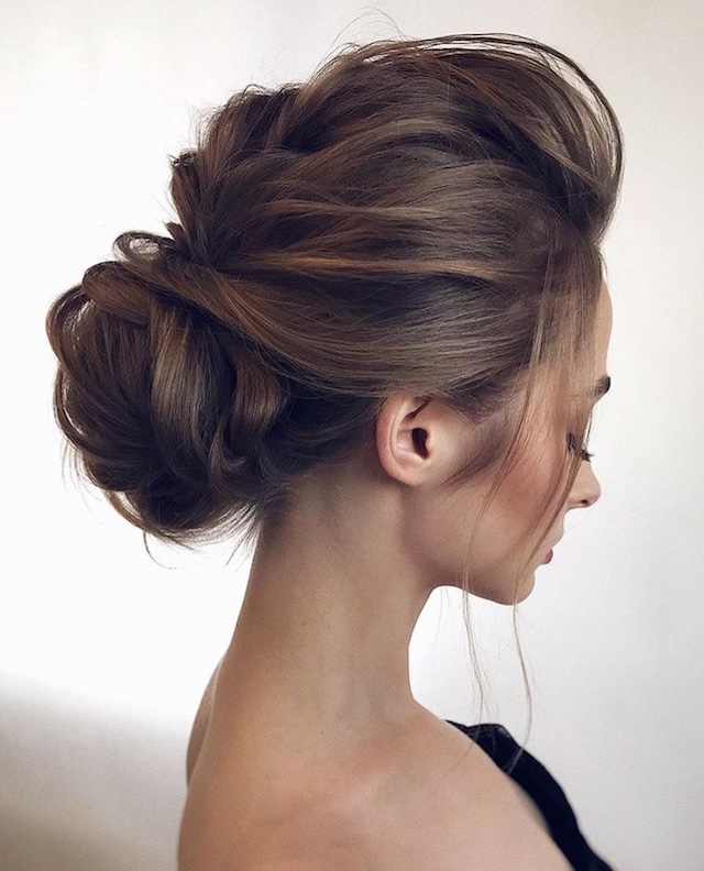 Low set wedding updo - 2018 wedding hair trends