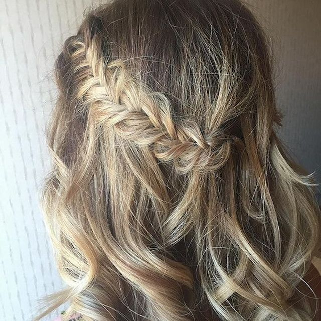 Side braid half up hairstyle - 2018 wedding hair trends