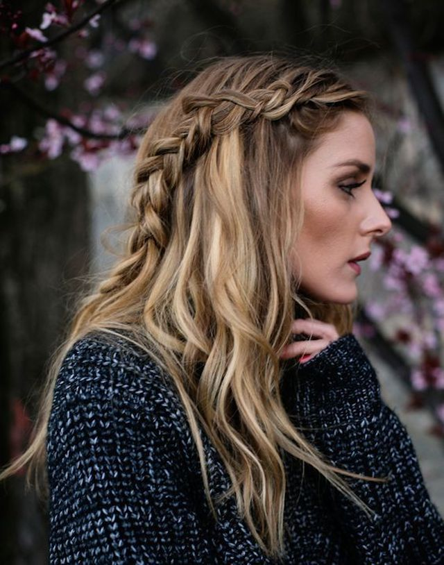 Side Braid Loose Hair