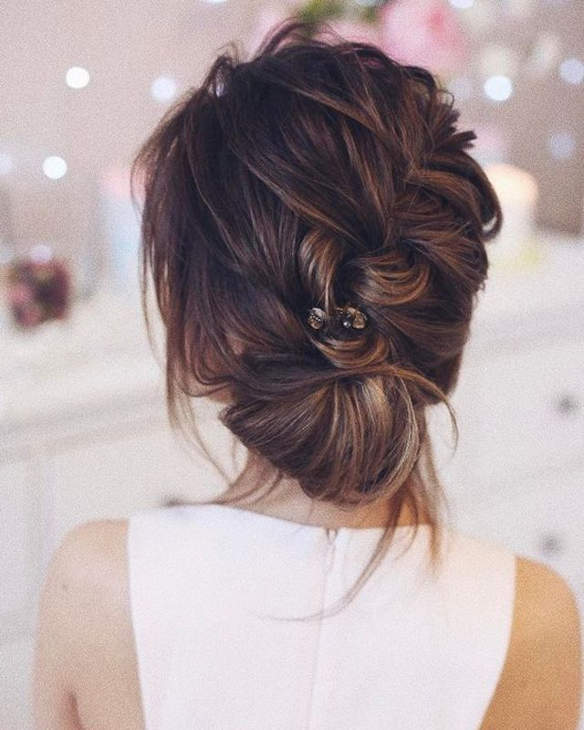 Soft braided wedding updo - 2018 bridal hair trends