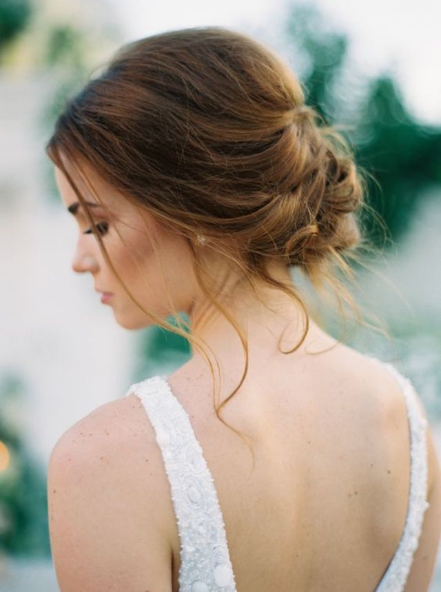 Soft romantic wedding updos - 2018 wedding hair trends