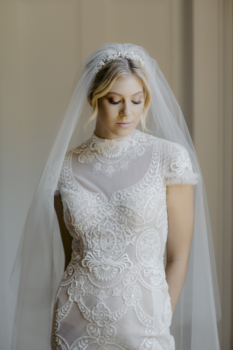 AMORA Chapel Veil With Blusher 11