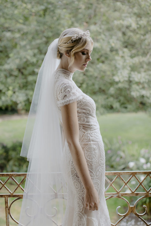 AMORA Chapel Veil With Blusher 12