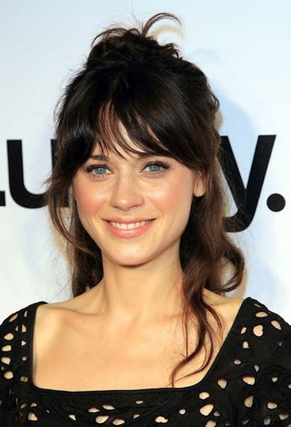 BRIDAL BANGS_loose waves with curtain bangs 10