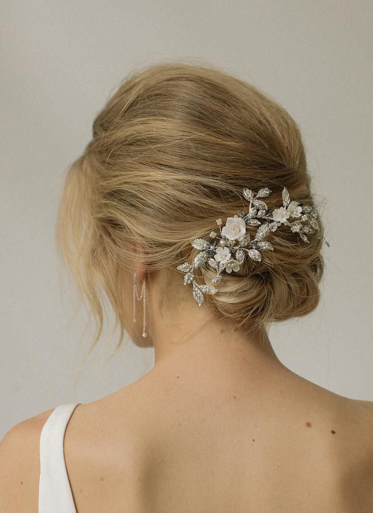 LADY GREY silver floral headpiece 7