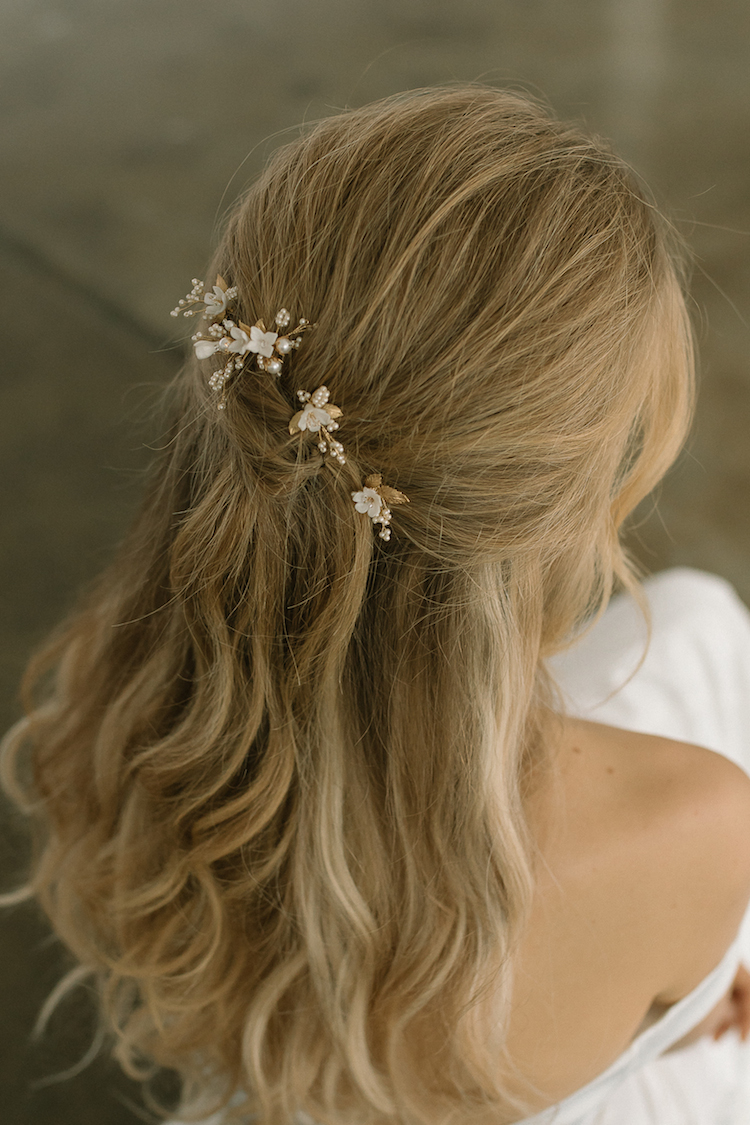 MEADOW floral hair pins 1