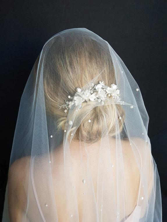 ROSEMONT ivory floral bridal headpiece 12