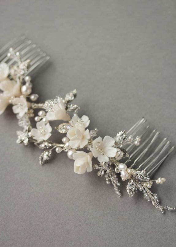 ROSEMONT silver floral headpiece 1
