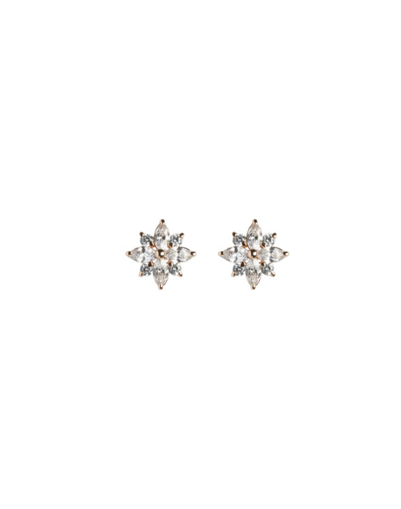 ELIZA rose gold crystal stud earrings