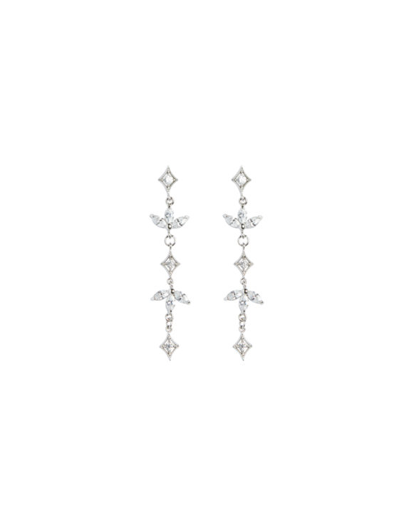 XAVIER crystal drop earrings