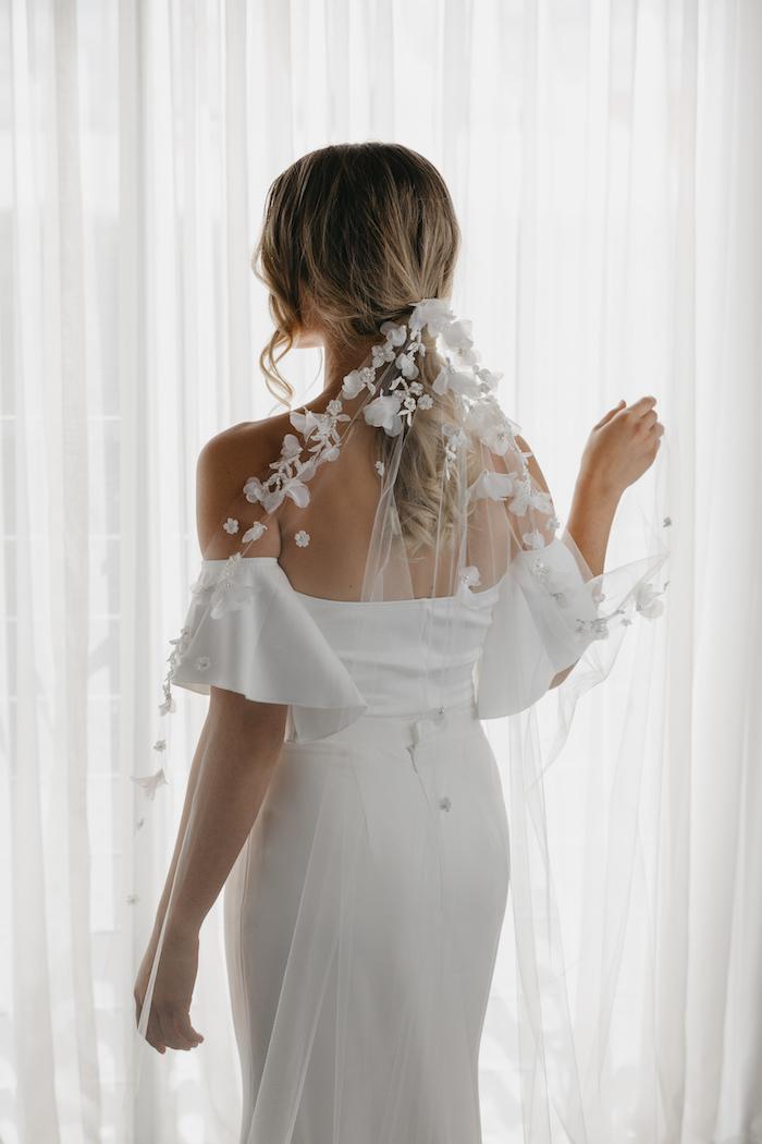 CATALINA floral bridal veil 8