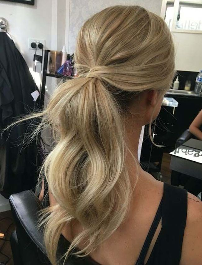 Styling the classic wedding ponytail 8
