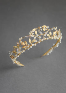 Bespoke for Yasmine_pearl and gold wedding crown 1