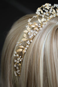 Bespoke for Yasmine_pearl and gold wedding crown 7