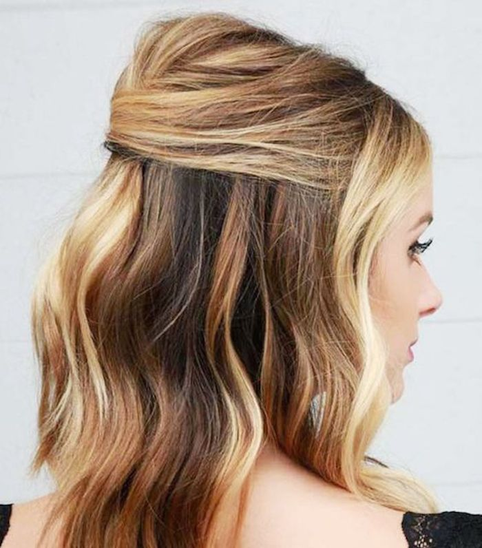 37 beautiful half up half down hairstyles with volume 1
