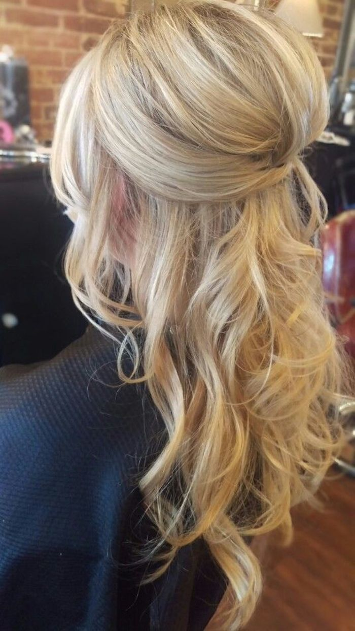 37 beautiful half up half down hairstyles with volume 2