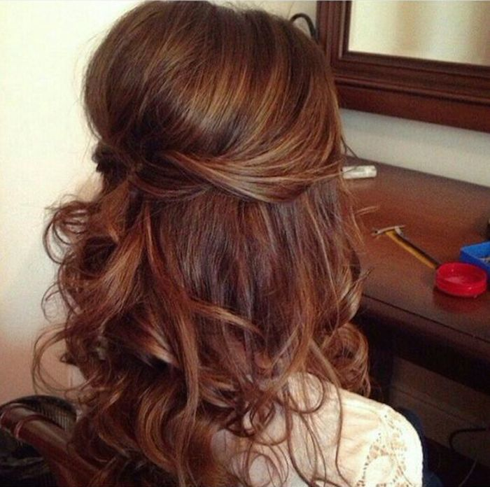 37 beautiful half up half down hairstyles with volume 3