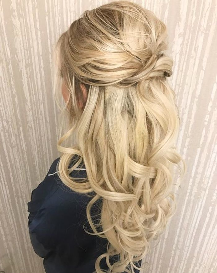 37 beautiful half up half down hairstyles with volume 4