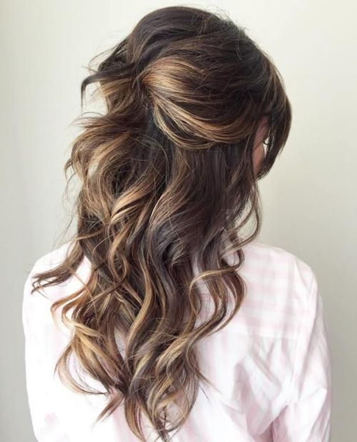 37 beautiful half up half down hairstyles with volume 5