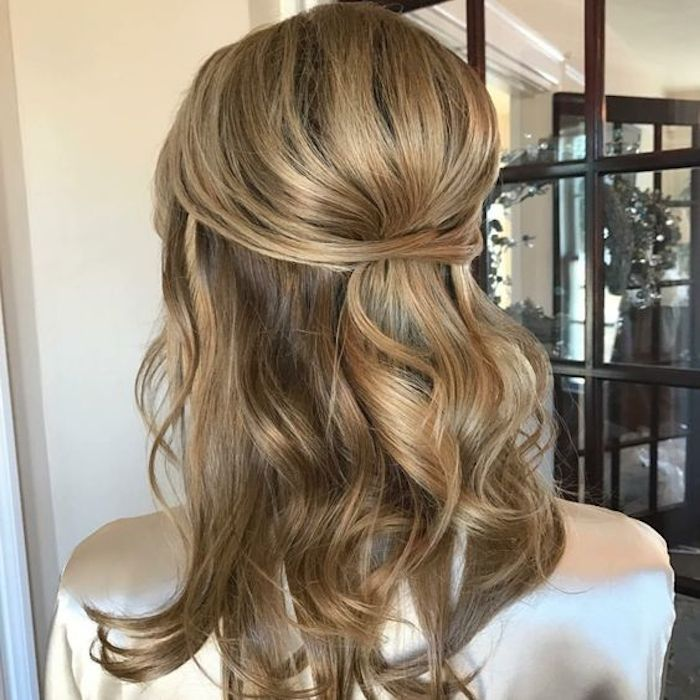 Wedding Party Hairstyle For Thin Hair: 37 Beautiful Half Up Half Down Hairstyles For The Modern