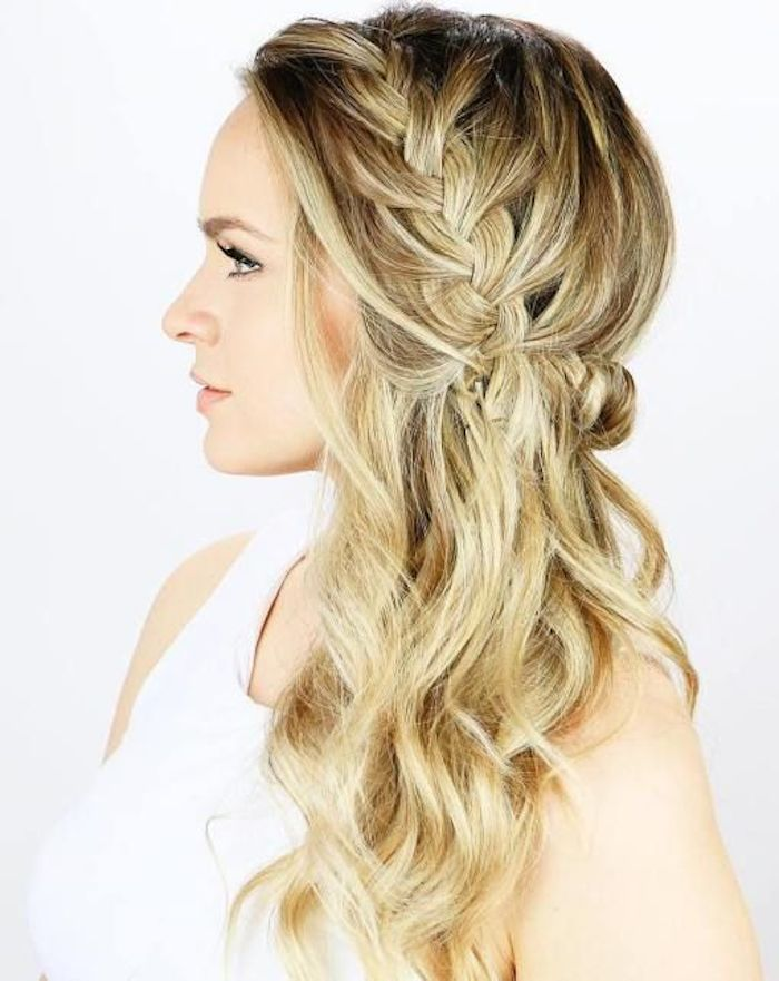 37 beautiful half up half down hairstyles_braided 3