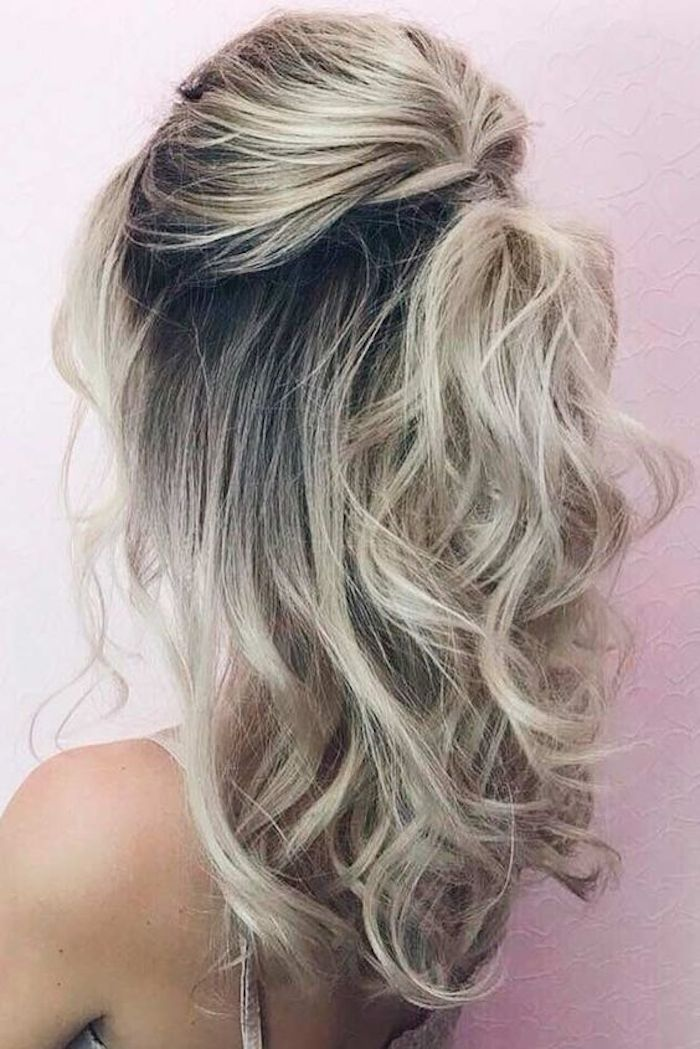 37 beautiful half up half down hairstyles_half up pony 1