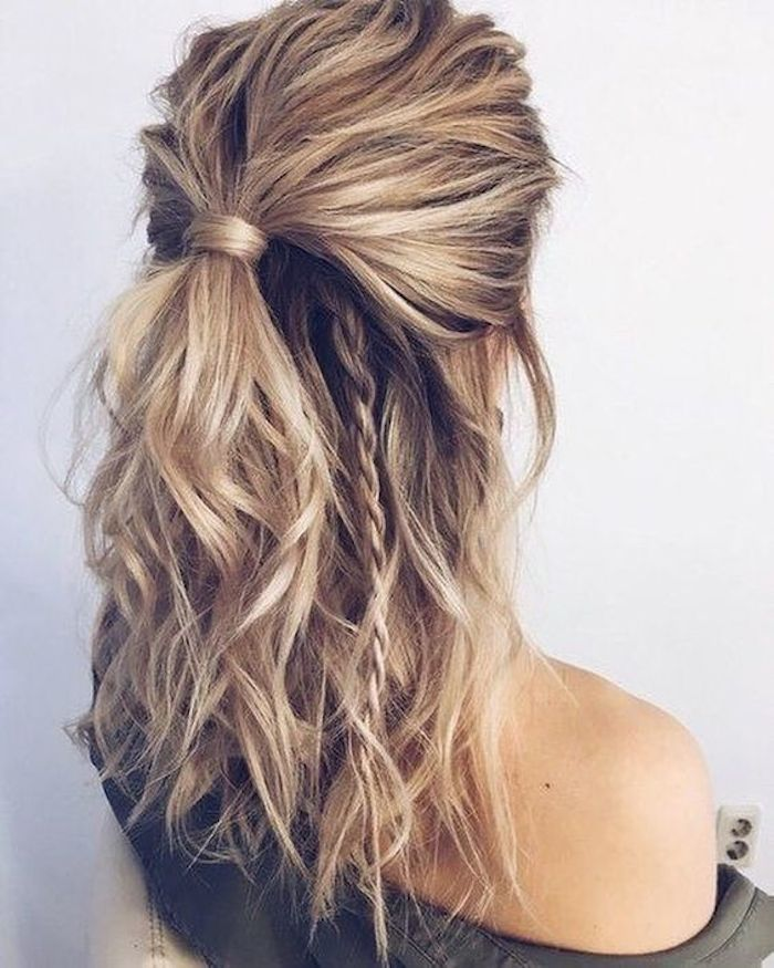 37 beautiful half up half down hairstyles_half up pony 2
