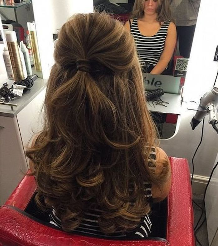 37 beautiful half up half down hairstyles_half up pony 4