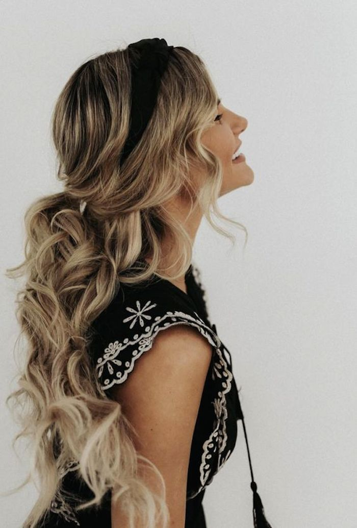 37 beautiful half up half down hairstyles_half up pony 5