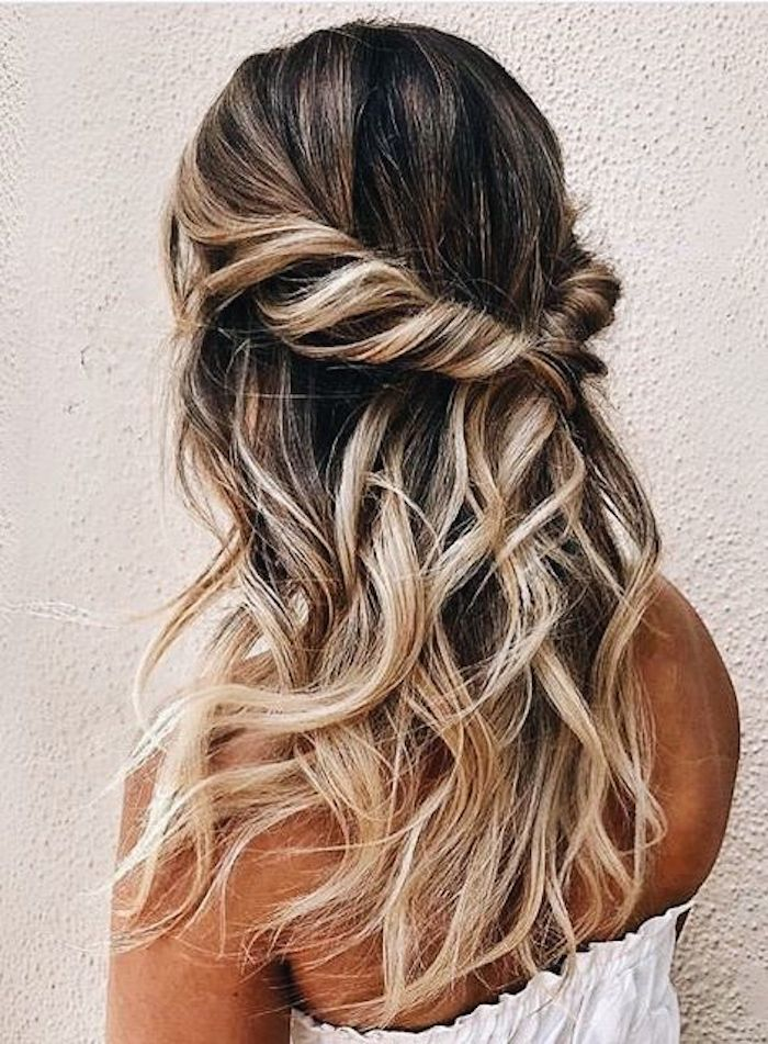 37 beautiful half up half down hairstyles_twisted hair 10