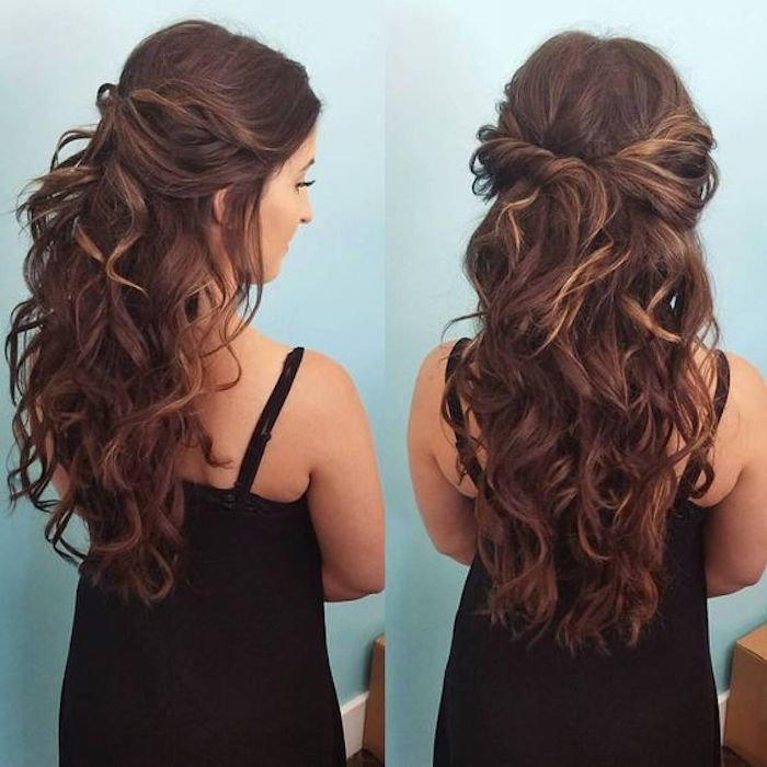 37 beautiful half up half down hairstyles_twisted hair 11