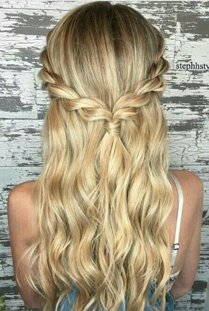 37 beautiful half up half down hairstyles_twisted hair 12
