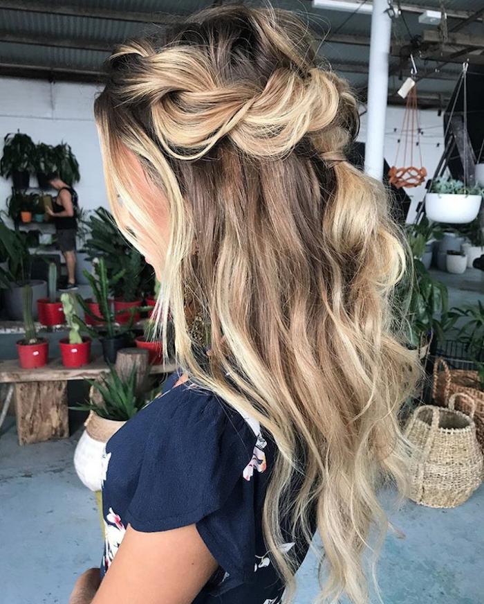37 beautiful half up half down hairstyles_twisted hair 14