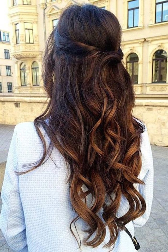 37 beautiful half up half down hairstyles_twisted hair 2