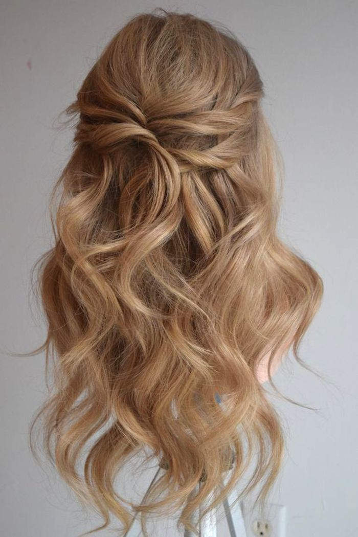 37 beautiful half up half down hairstyles_twisted hair 3