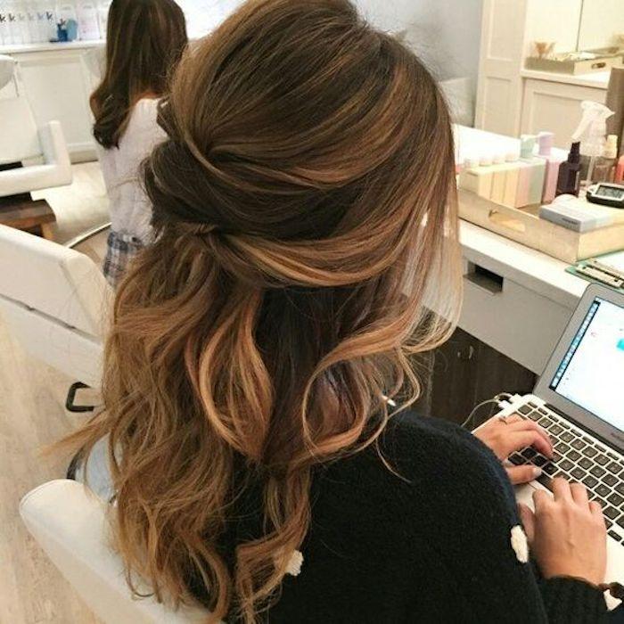 37 beautiful half up half down hairstyles_twisted hair 4
