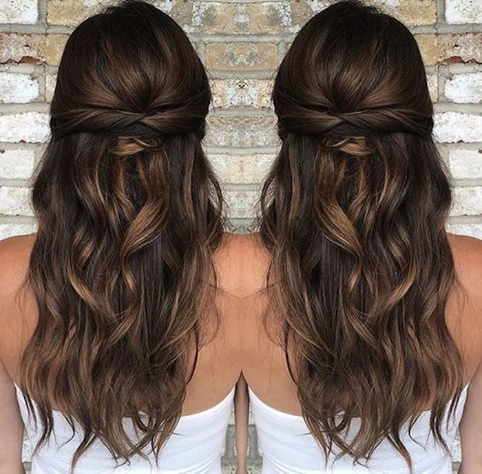 37 beautiful half up half down hairstyles_twisted hair 5