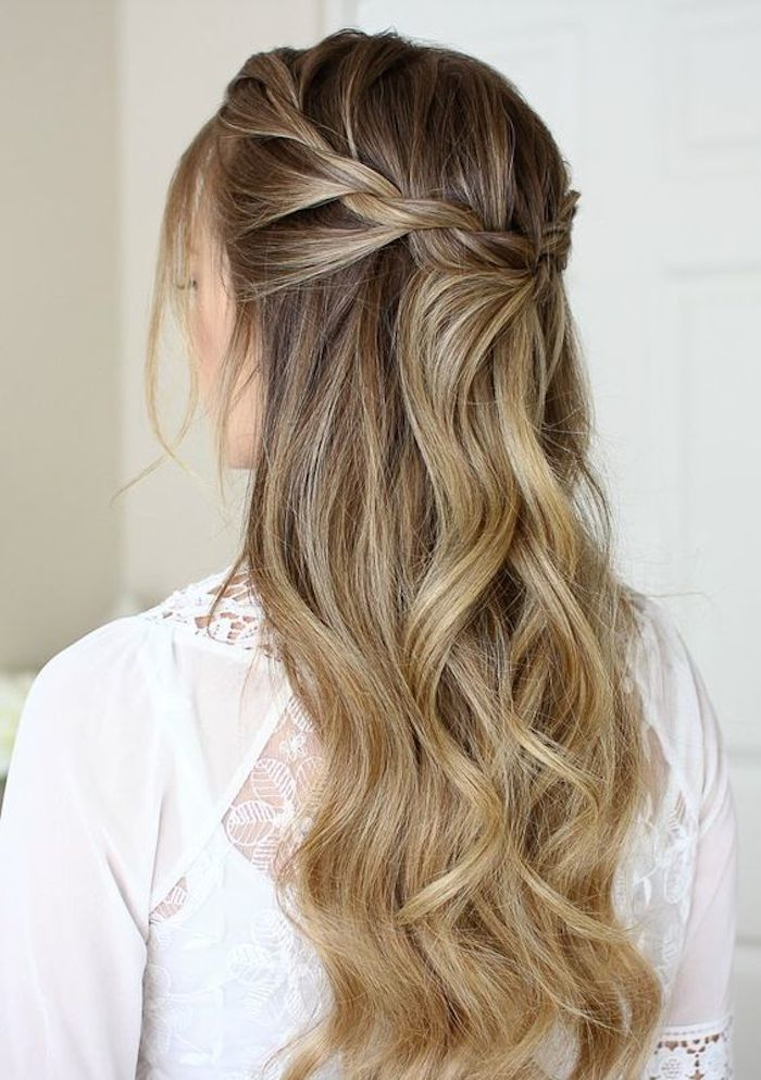 37 beautiful half up half down hairstyles_twisted hair 6