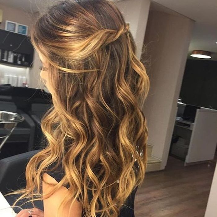 37 beautiful half up half down hairstyles_twisted hair 8