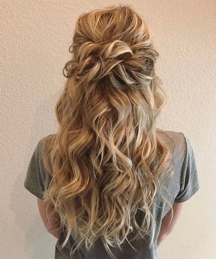 37 beautiful half up half down hairstyles_twisted hair 9