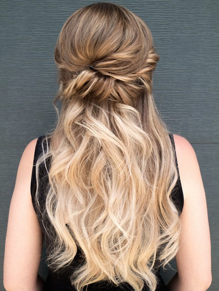 37 beautiful half up half down hairstyles_twisted