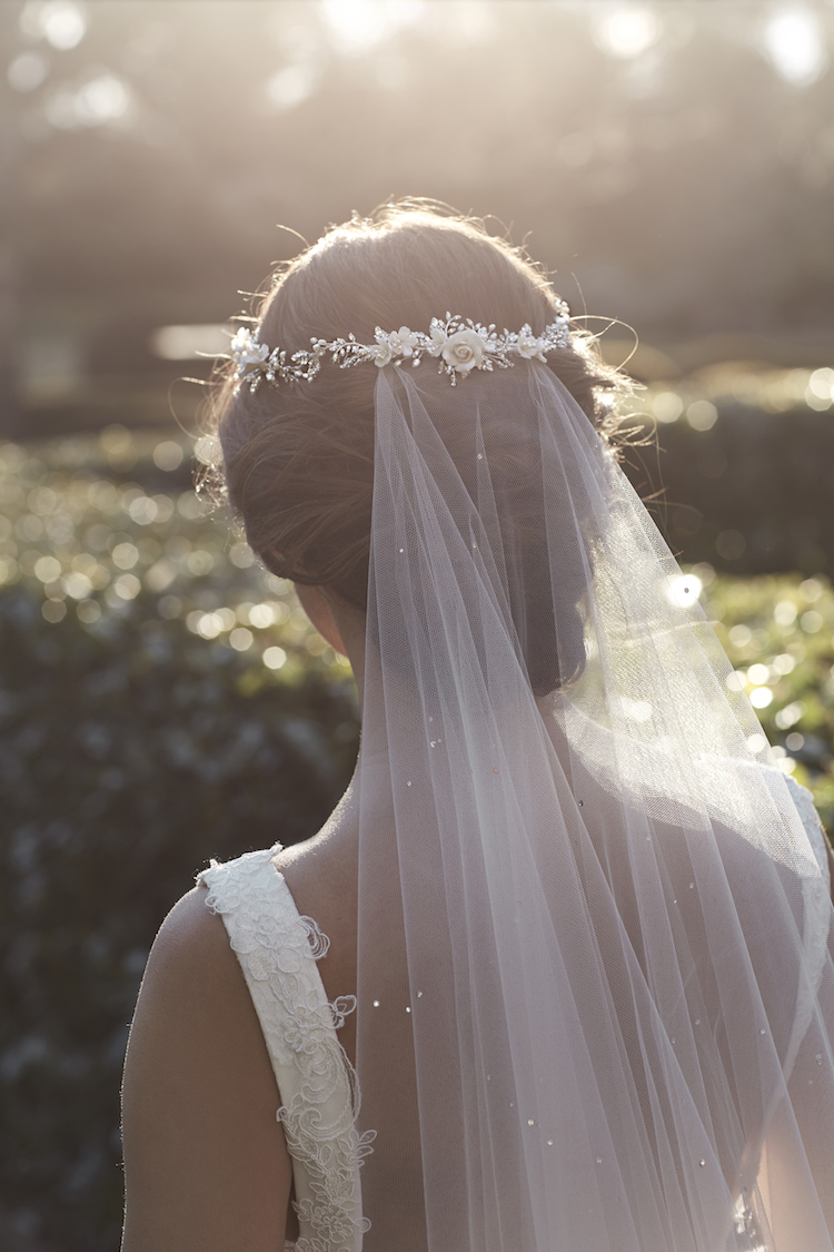 Beautiful wedding veils with crystals_MARGAUX ivory long veil with crystals 1