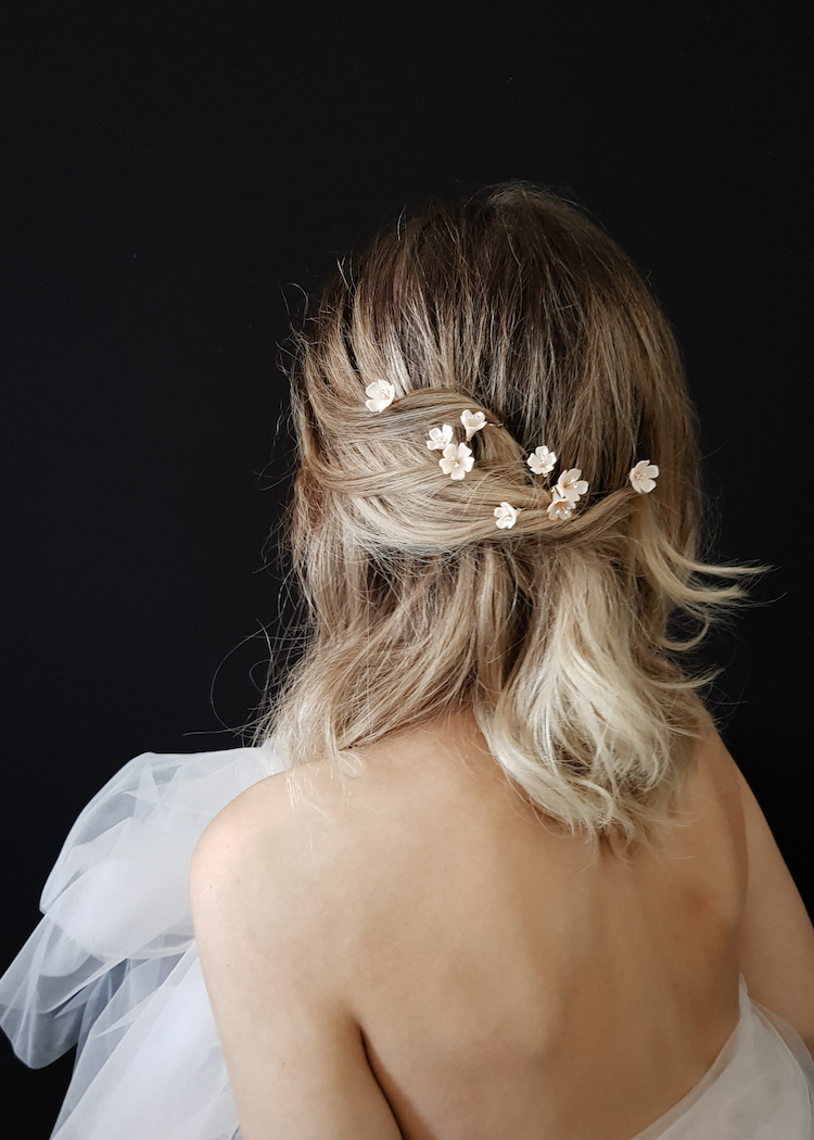 Small but mighty | Delicate bridal hair pins for the modern bride