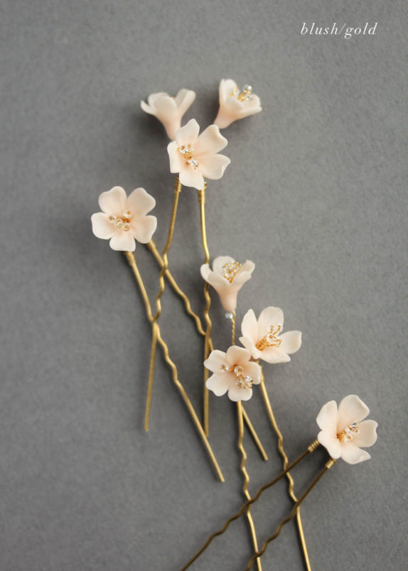 WHISPER hair pin set_blush gold 01