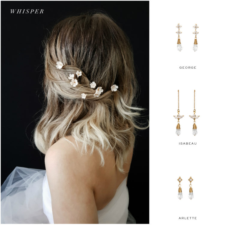 WHISPER hair pins and earring suggestions