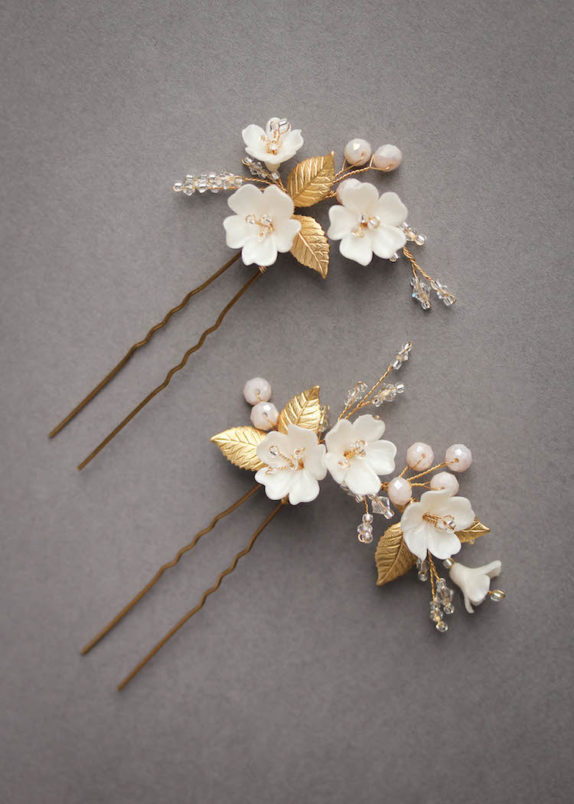 APPLE BLOSSOM bridal hair pieces 9