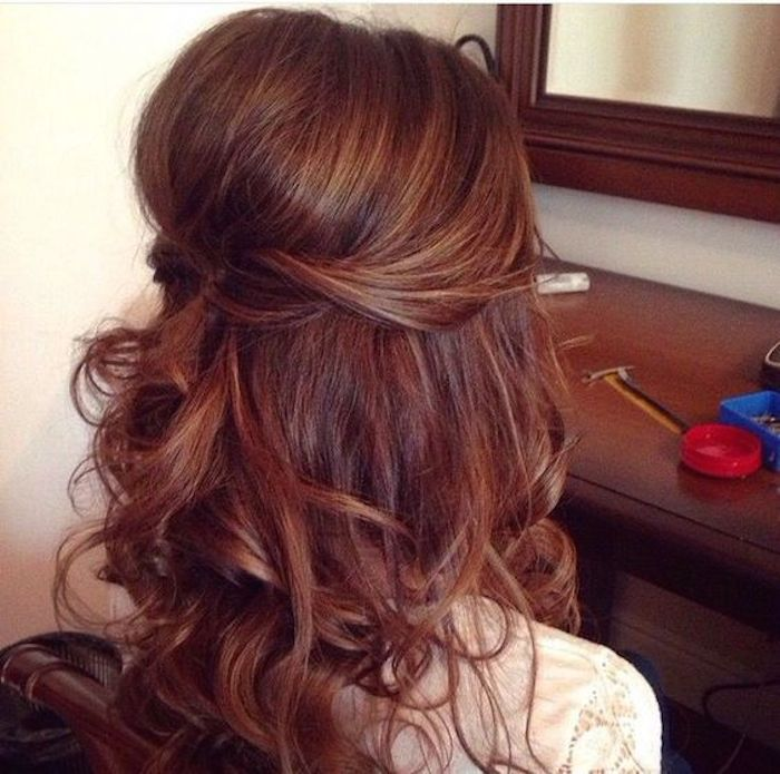 Beautiful bridesmaids hairstyles_half up half down 11